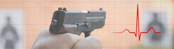 Διαχείριση πίεσης Σειρά πυροβολισμού heartbeat Ρυθμός καρδιών ekg στοκ φωτογραφίες με δικαίωμα ελεύθερης χρήσης