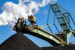 Διαχειριζόμενη βιομηχανία άνθρακα στοιβαχτής-reclaimer Στοκ Φωτογραφίες