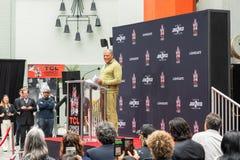 Διαχειριστές και Laurence Fishburne, γεγονός του Keanu Hollywood Blvd στοκ εικόνες με δικαίωμα ελεύθερης χρήσης