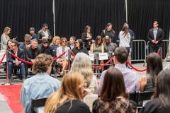 Διαχειριστές του Keanu Handprints και ίχνη δράστη που τσιμεντάρονται σε Hollywood Boulevar στοκ φωτογραφίες με δικαίωμα ελεύθερης χρήσης