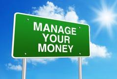 Διαχειριστείτε τα χρήματά σας στοκ εικόνα με δικαίωμα ελεύθερης χρήσης