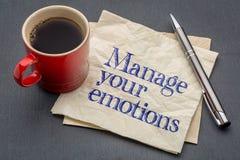 Διαχειριστείτε τις συμβουλές συγκινήσεών σας στοκ φωτογραφίες