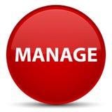 Διαχειριστείτε το ειδικό κόκκινο στρογγυλό κουμπί διανυσματική απεικόνιση