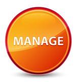 Διαχειριστείτε το ειδικό υαλώδες πορτοκαλί στρογγυλό κουμπί απεικόνιση αποθεμάτων