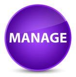 Διαχειριστείτε το κομψό πορφυρό στρογγυλό κουμπί διανυσματική απεικόνιση