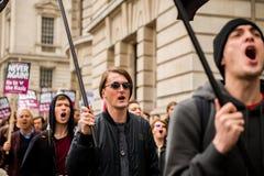 Διαδήλωση διαμαρτυρίας - Λονδίνο Στοκ Εικόνα