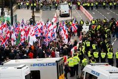 Διαδήλωση διαμαρτυρίας - Λονδίνο, UK Στοκ εικόνα με δικαίωμα ελεύθερης χρήσης