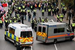 Διαδήλωση διαμαρτυρίας - Λονδίνο, UK Στοκ εικόνες με δικαίωμα ελεύθερης χρήσης