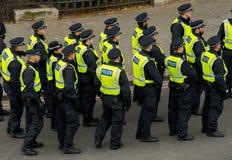 Διαδήλωση διαμαρτυρίας - Λονδίνο, UK Στοκ Εικόνα