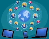 Διαδίκτυο συνδέει τους ανθρώπους Ελεύθερη απεικόνιση δικαιώματος