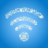 Διαδίκτυο της έννοιας πραγμάτων απεικόνιση αποθεμάτων