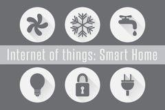 Διαδίκτυο των πραγμάτων, IoT - έξυπνο σπίτι Στοκ Εικόνες