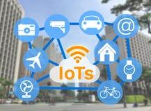 Διαδίκτυο των πραγμάτων (IoTs) Στοκ εικόνα με δικαίωμα ελεύθερης χρήσης