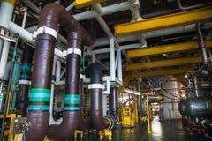 Διαδικασία παραγωγής πετρελαίου και φυσικού αερίου productionfor σωληνώσεων Στοκ φωτογραφία με δικαίωμα ελεύθερης χρήσης