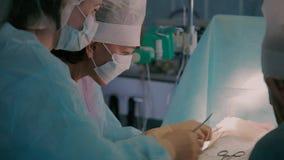 Διαδικασία τη πλαστική χειρουργική Πυροβολισμός κινηματογραφήσεων σε πρώτο πλάνο απόθεμα βίντεο