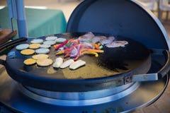 Διαδικασία EN Μπαρμπάντος μαγειρέματος Στοκ εικόνες με δικαίωμα ελεύθερης χρήσης
