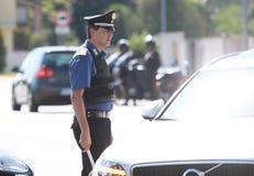 Διαδικασίες ασφάλειας αντι-τρομοκρατίας στην Ιταλία Στοκ Φωτογραφία