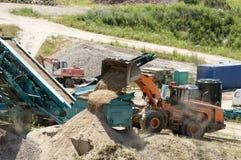 Διαλογή αμμοχάλικου Στοκ φωτογραφία με δικαίωμα ελεύθερης χρήσης