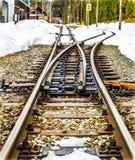 Διαδρομές και χιόνι τραίνων Στοκ φωτογραφία με δικαίωμα ελεύθερης χρήσης