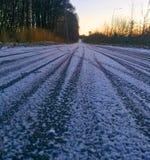 Διαδρομές ποδηλάτων στο χιόνι Στοκ φωτογραφίες με δικαίωμα ελεύθερης χρήσης