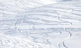 Διαδρομές στο χιόνι Στοκ Φωτογραφίες