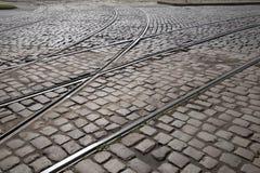 Διαδρομές τραμ στη Ρήγα Στοκ εικόνες με δικαίωμα ελεύθερης χρήσης