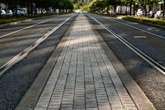Διαδρομές τραμ Στοκ εικόνες με δικαίωμα ελεύθερης χρήσης