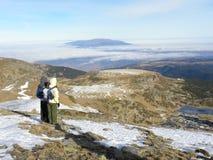 Διαδρομές Rabbit's στο χιόνι στοκ εικόνες με δικαίωμα ελεύθερης χρήσης