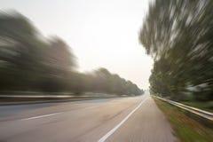 Διαδρομή αγώνα θαμπάδων κινήσεων για τον ανταγωνισμό αγώνων Στοκ Εικόνες
