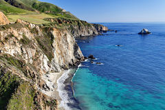 Διαδρομή 1 Ειρηνικών Ωκεανών - κράτος Καλιφόρνιας εθνική οδός Pacific Coast - κοντινή γέφυρα κολπίσκου Bixby, μεγάλη περιοχή Sur, Στοκ φωτογραφία με δικαίωμα ελεύθερης χρήσης