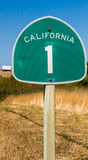 Διαδρομή 1 Καλιφόρνιας σημάδι Στοκ Φωτογραφίες