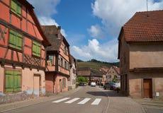 Διαδρομή κρασιού ταξιδιού στη Γαλλία Λα route des vins Στοκ Φωτογραφίες