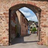 Διαδρομή κρασιού ταξιδιού στη Γαλλία Λα route des vins Στοκ Εικόνες