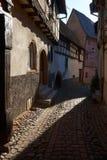 Διαδρομή κρασιού ταξιδιού στη Γαλλία Λα route des vins Στοκ εικόνες με δικαίωμα ελεύθερης χρήσης