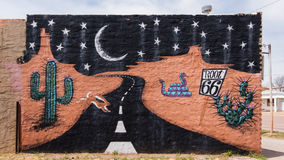 Διαδρομή 66: Ρίζα 66 τοιχογραφία, Sayre, ΕΝΤΆΞΕΙ Στοκ εικόνες με δικαίωμα ελεύθερης χρήσης