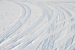 Διαδρομή ροδών αυτοκινήτων Στοκ Εικόνα