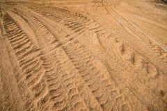 Διαδρομή ροδών στην άμμο Στοκ Εικόνες