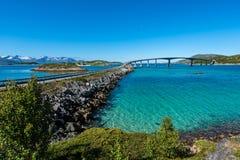 Διαδρομή 862 σε Troms, βόρεια Νορβηγία Στοκ φωτογραφία με δικαίωμα ελεύθερης χρήσης