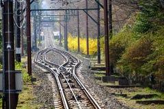 Διαδρομή σιδηροδρόμων στην Ιαπωνία Στοκ Φωτογραφίες
