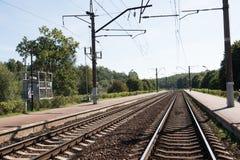 Διαδρομή σιδηροδρόμων στο Μινσκ, Λευκορωσία Στοκ φωτογραφία με δικαίωμα ελεύθερης χρήσης