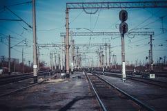 Διαδρομή σιδηροδρόμων Στοκ εικόνα με δικαίωμα ελεύθερης χρήσης