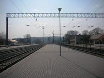 Διαδρομή τραίνων, σιδηροδρομικός σταθμός Στοκ φωτογραφία με δικαίωμα ελεύθερης χρήσης