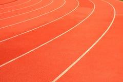 Διαδρομή φυλών τρεξίματος στο αθλητικό στάδιο στοκ φωτογραφίες με δικαίωμα ελεύθερης χρήσης