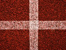 Διαδρομή Jogging, υπαίθριο ωοειδές στάδιο με μια διαδρομή ταρτάν Στοκ εικόνα με δικαίωμα ελεύθερης χρήσης