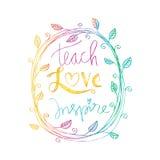 Διδάξτε την αγάπη εμπνέει Στοκ φωτογραφία με δικαίωμα ελεύθερης χρήσης