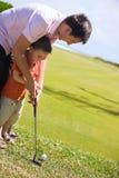 διδασκαλία γκολφ Στοκ εικόνα με δικαίωμα ελεύθερης χρήσης