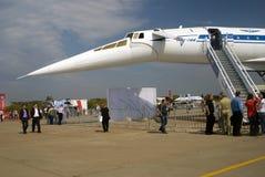 Διεθνές αεροδιαστημικό σαλόνι MAKS TU-144 Στοκ φωτογραφία με δικαίωμα ελεύθερης χρήσης