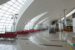 Διεθνές εσωτερικό αερολιμένων του Ντουμπάι Στοκ Εικόνα