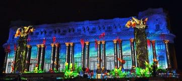 Διεθνές ελαφρύ φεστιβάλ του Βουκουρεστι'ου επικέντρων Στοκ φωτογραφίες με δικαίωμα ελεύθερης χρήσης