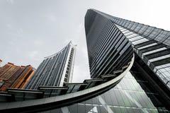 Διεθνές κεντρικό κτίριο γραφείων εμπορίου στο Χονγκ Κονγκ Στοκ Εικόνα